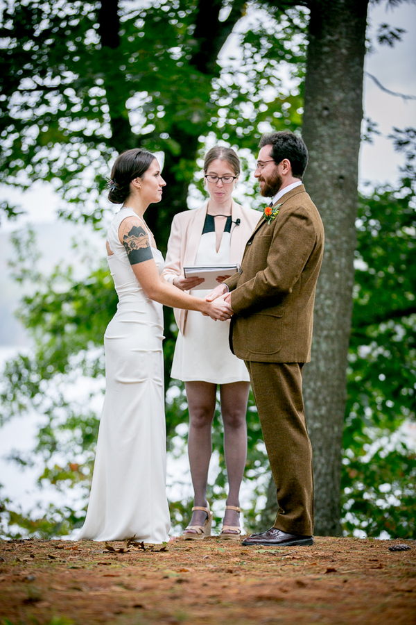 Outdoor Forest Wedding Couple
