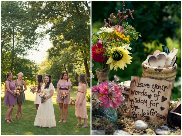 Eclectic Boho Garden Wedding