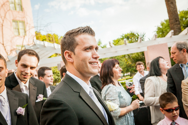 groom st petersburg outdoor ceremony Majestic Renaissance Vinoy Wedding by Gary Kaplan Photography