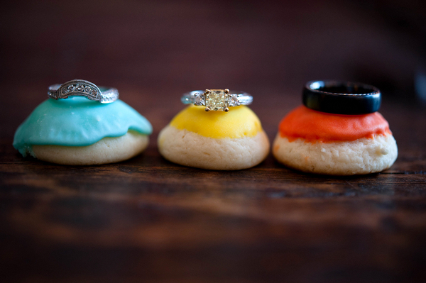 Colorful Wedding Ring Photo