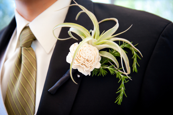 Eco Friendly Succulent Boutonniere | Love Wed Bliss