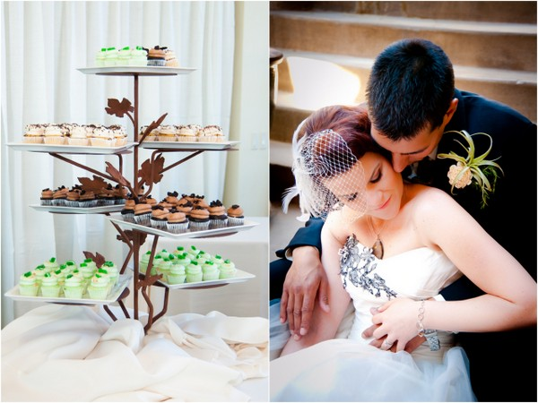 Green Wedding Cupcake Display | Love Wed Bliss