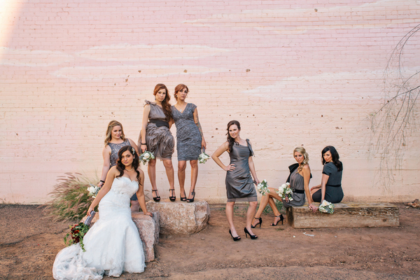 Industrial Wedding Gray and White