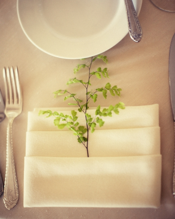 Place Setting for Country Club Wedding