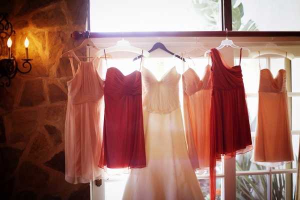 Red and Pink Wedding Dresses
