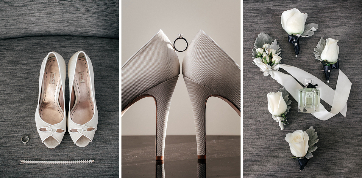 grey cream wedding palette Sydney City Wedding by Hilary Cam Photography