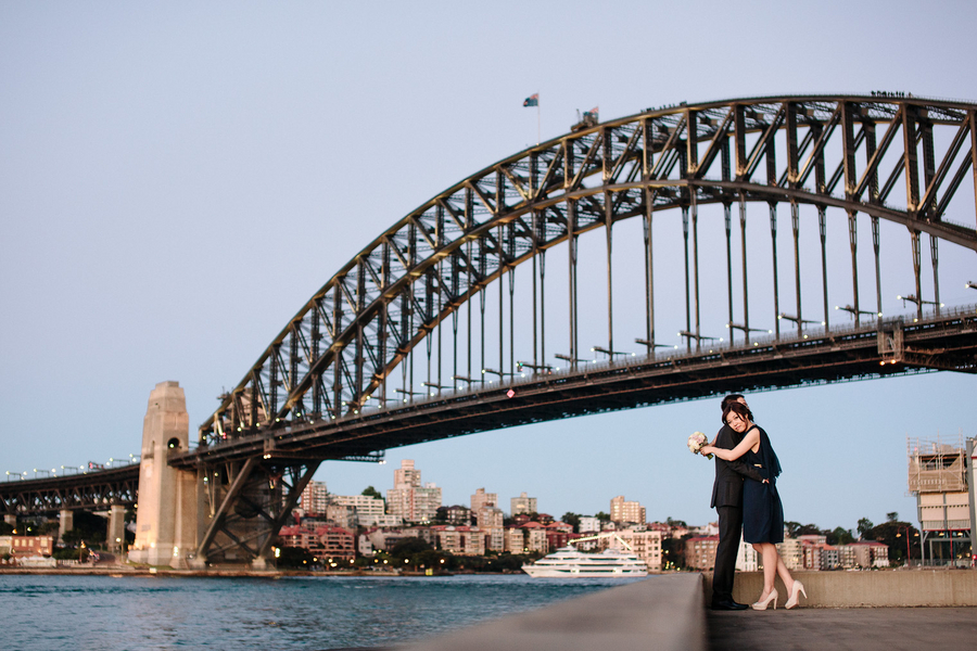 sydney harbour bridge wedding photos Sydney City Wedding by Hilary Cam Photography