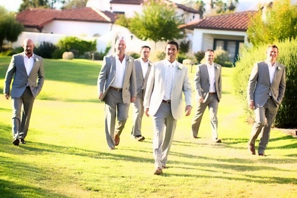 California Wedding - Rustic Chic Groomsmen
