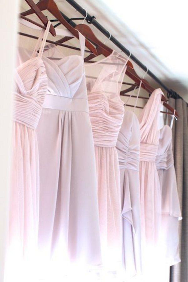 Pastel Bridesmaid Dresses Rustic Chic Wedding