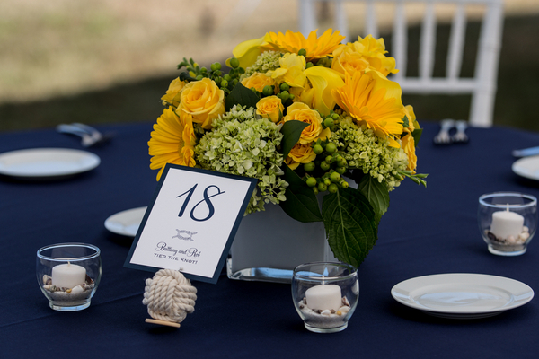 Maritime Themed Wedding Centerpieces