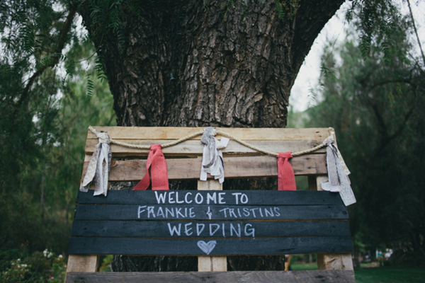 Wedding Sign for Escondido Wedding | Love Wed Bliss
