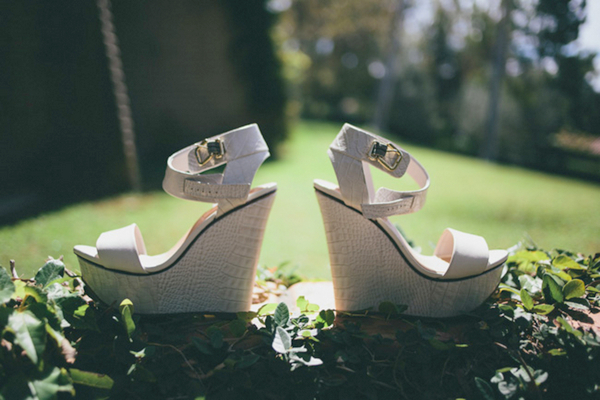 Wedge Wedding Shoes in Cream | Love Wed Bliss