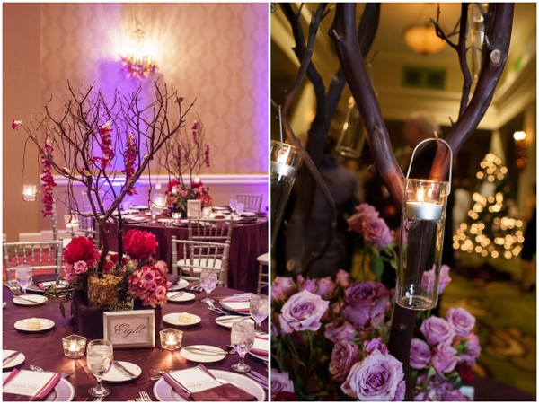 Purple Ideas For Weddings: Evening Candlelight Wedding By Kimberly Photography LLC