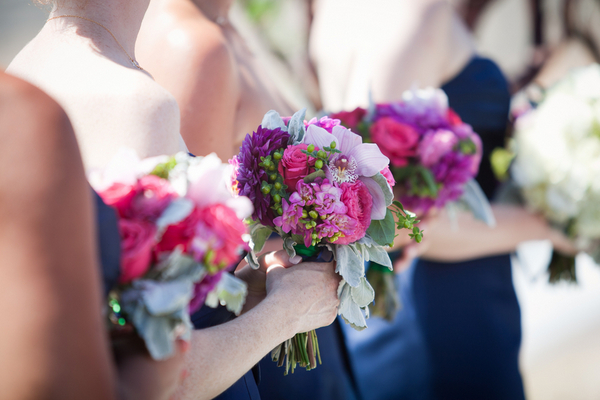 Colorful Bridesmaid Bouquets Los Angeles