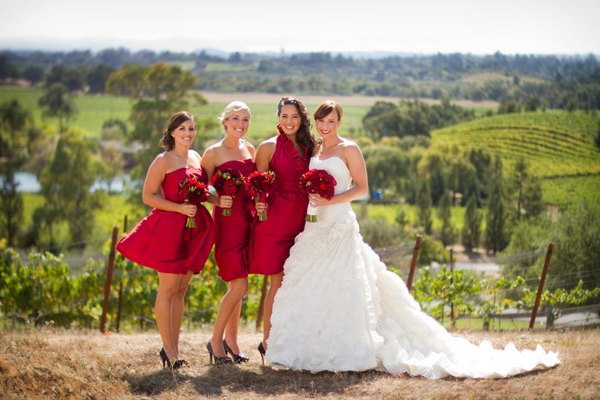Napa Valley Red and White Wedding