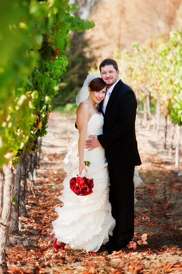 napa valley wedding Napa Valley Red and White Wedding by Cathy Stancil Photography