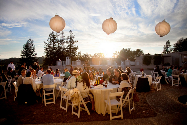 outdoor wedding reception napa valley Napa Valley Red and White Wedding by Cathy Stancil Photography