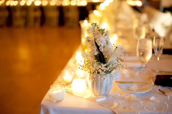 candlelit wedding reception table Outdoor California Wedding at Miramonte Resort and Spa