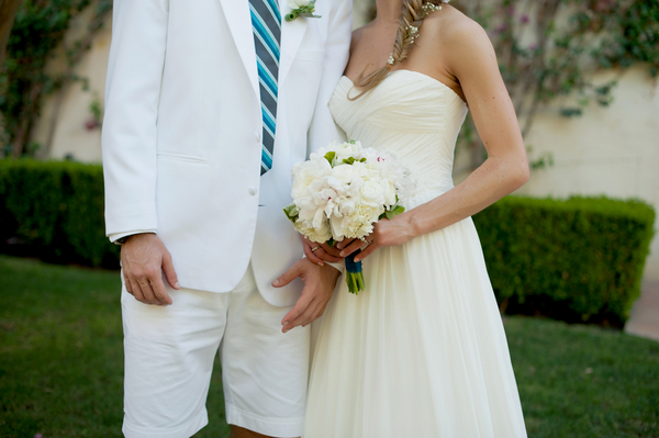 teal blue and white wedding Outdoor California Wedding at Miramonte Resort and Spa