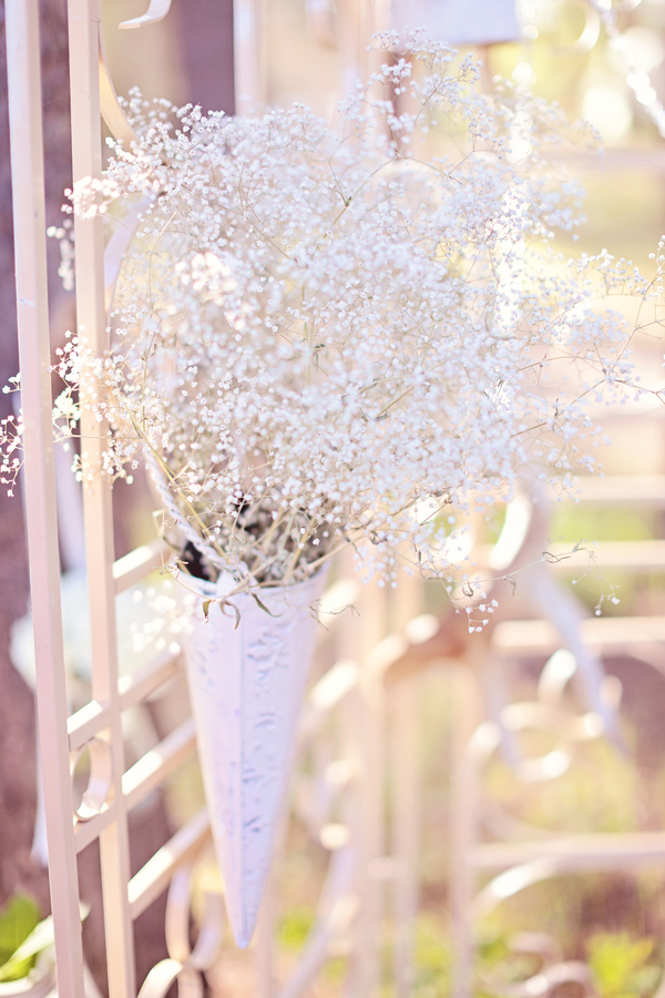 Baby's Breath Decor Outdoor Tent Wedding
