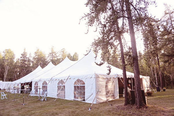 Outdoor Wedding Tent Pictures