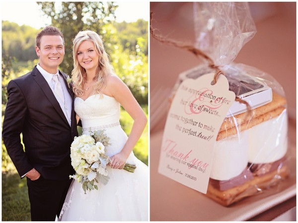 Smores at Outdoor Tent Wedding