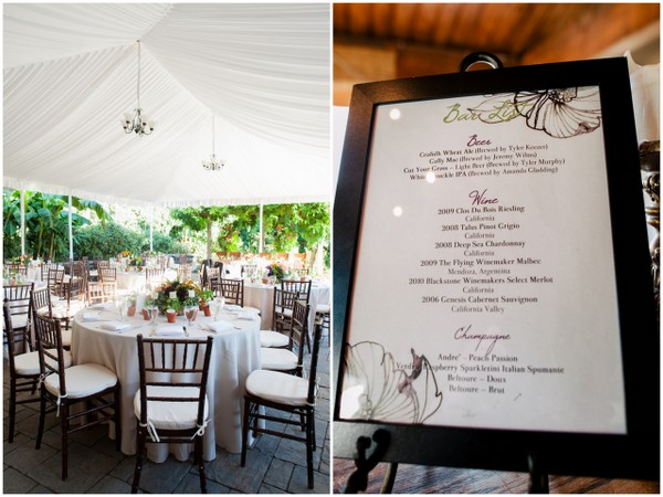 Tuscan Themed Wedding Decor