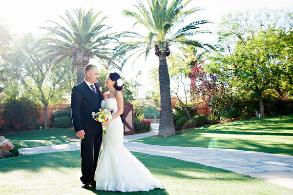 redondo beach wedding Yellow and Purple Wedding Theme in Redondo Beach California