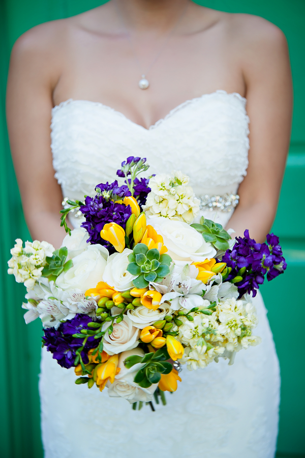 yellow and purple wedding theme Yellow and Purple Wedding Theme in Redondo Beach California