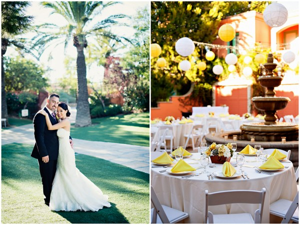 yellow purple wedding colours Yellow and Purple Wedding Theme in Redondo Beach California