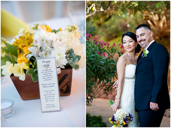 yellow purple wedding decor Yellow and Purple Wedding Theme in Redondo Beach California