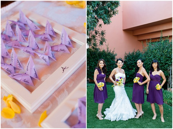 Yellow and purple wedding theme in redondo beach california yellow purple wedding theme mightylinksfo