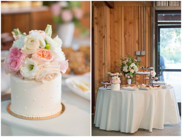 pastel rustic wedding cake 29 Pretty Pastel Rustic Chic Wedding by TréCreative Film & Photo