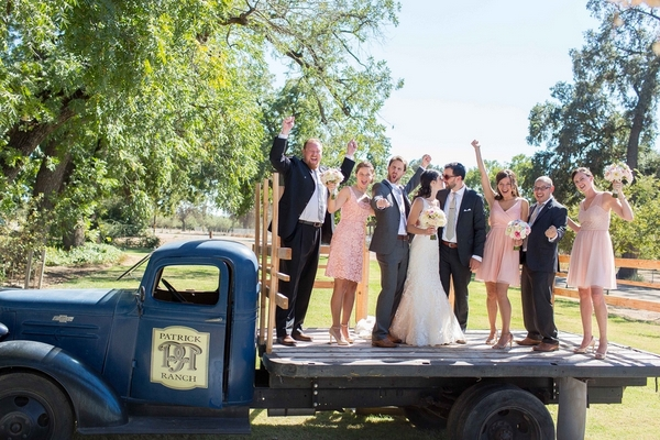 Rustic Truck Wedding Photo