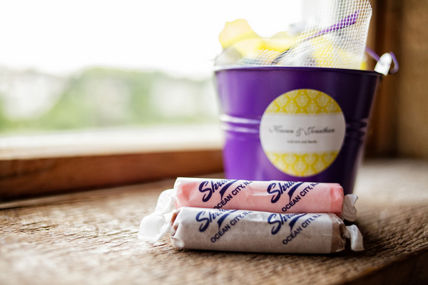 Purple and White Wedding Favor Ideas
