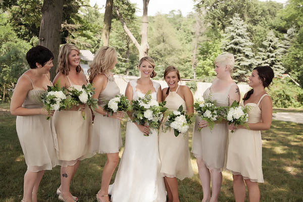 Rustic Bridesmaid Neutral Themed