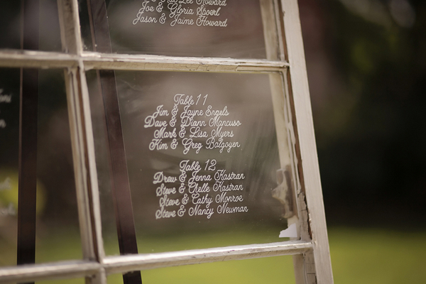 Rustic Themed Seating List