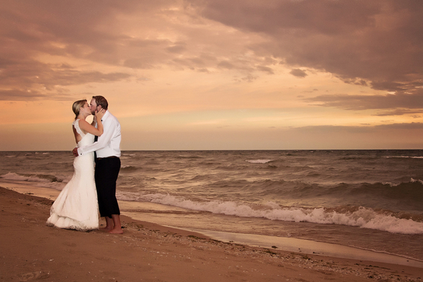 Wedding on Lake Michigan