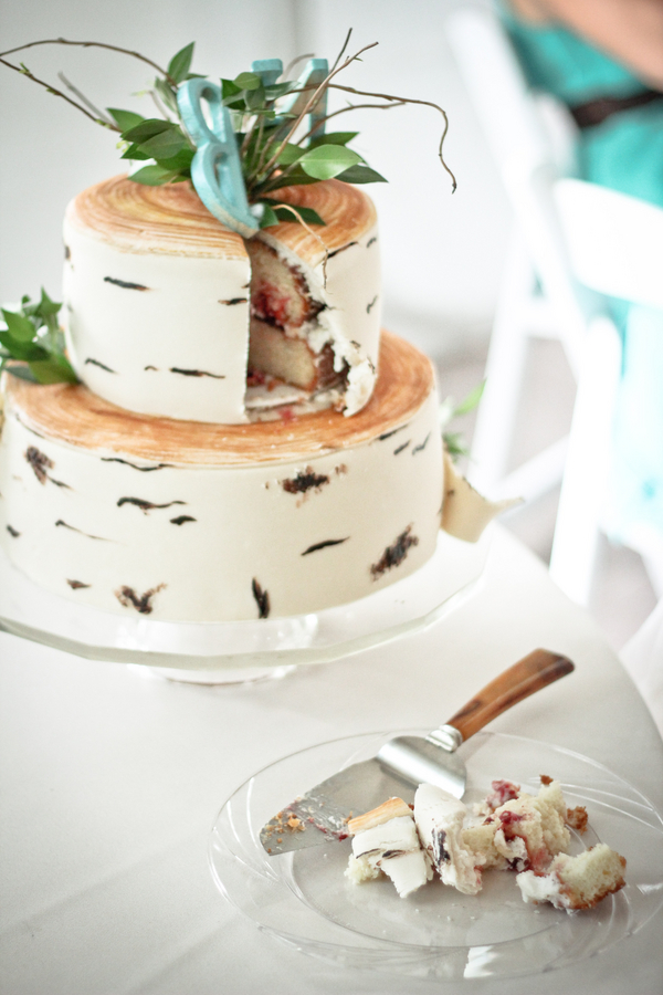 Homemade Rustic Wedding Cake