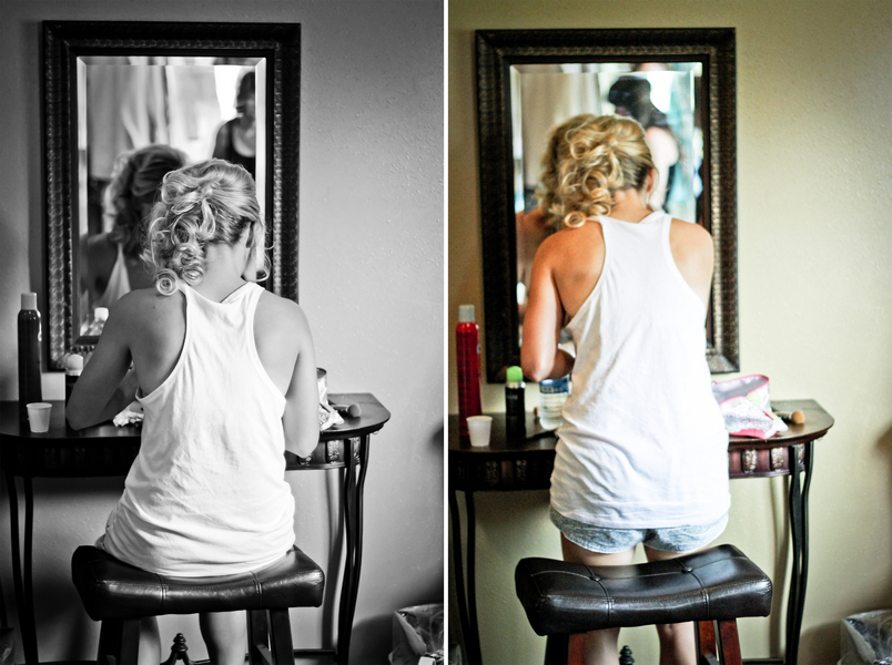 montana bride prepares for day Red Lodge Montana Wedding by Kat Skye Photography