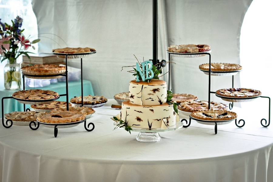 Pie Buffet at Rustic Wedding