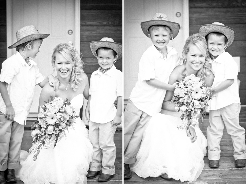 ring bearers rustic country wedding Red Lodge Montana Wedding by Kat Skye Photography
