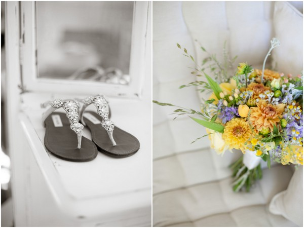Diamente Flat Outdoor Wedding Shoes | Love Wed Bliss