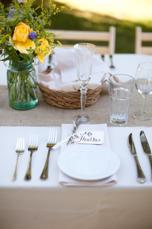 Lavender Sprig Place Setting | Love Wed Bliss