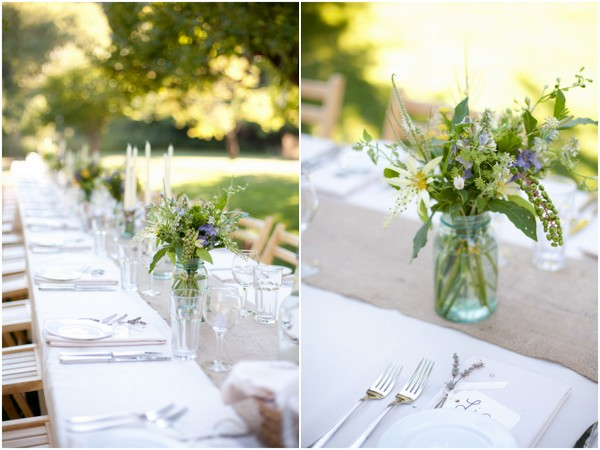 Outdoor Tables Orchard Wedding | Love Wed Bliss