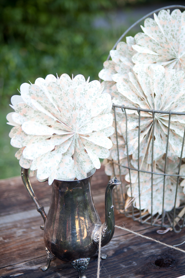 Paper Fans for Outdoor Rustic Wedding | Love Wed Bliss