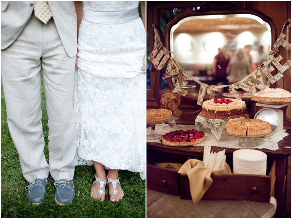 Pie Buffet Table at Rustic Wedding | Love Wed Bliss