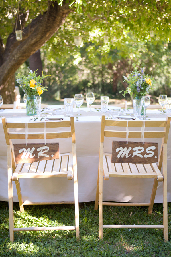 Rustic Mr & Mrs Chair Signs | Love Wed Bliss