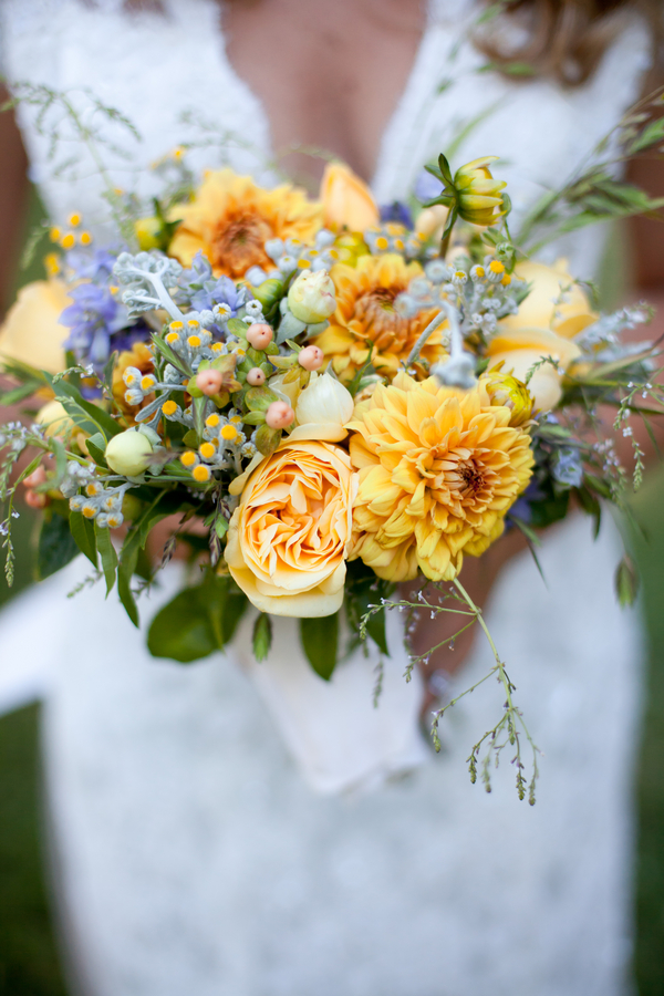 Yellow Wedding Bouquet - Rustic & Vintage
