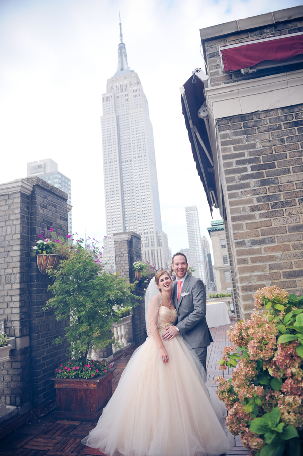 new york rooftop wedding Rustic Chic Wedding in Uptown New York